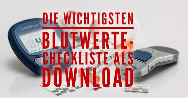Laborwerte Checkliste als download