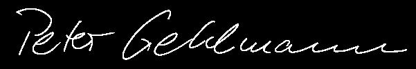 Peter Gehlmann Unterschrift